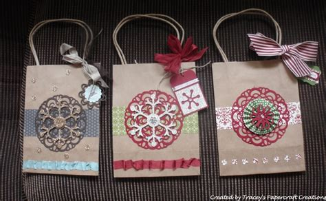 decorated brown paper bags  christmas brown bags