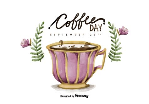 Free National Coffee Day Watercolor Vector Coffee Pods For Smeg Wholesale Storage Wiki Creamers Made With Stevia And Diabetes Mate Original Individual Nutrition Best Keto