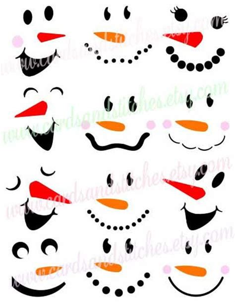 snowman faces svg snowmen svg winter  cardsandstitches