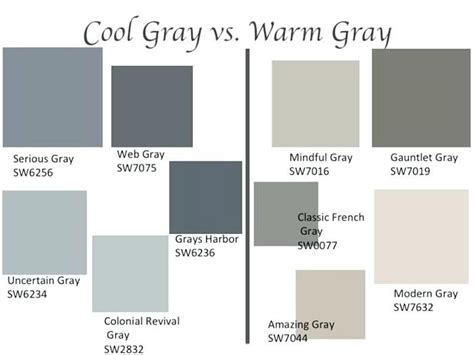 cool grey color grays grey color palette names great