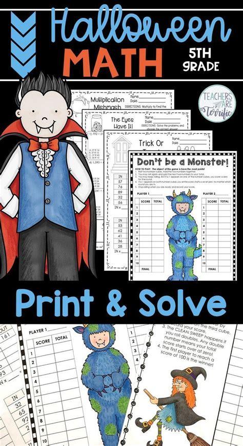 halloween math worksheets print  solve gr