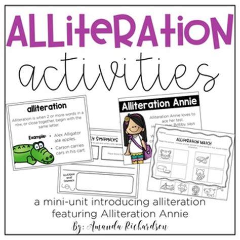 alliteration activities by amanda richardson teachers