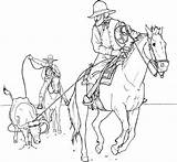 Cowboy Coloring Pages Soldier Winter sketch template