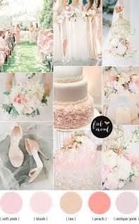 wedding color scheme blush pink garden wedding colour palette