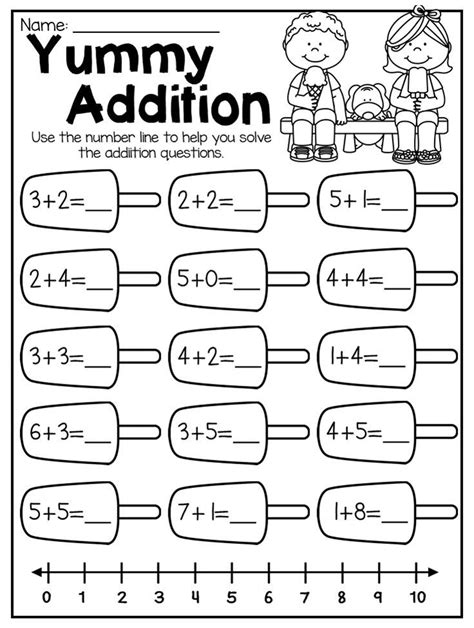 summer review kindergarten math and literacy worksheet clase kindergarten math