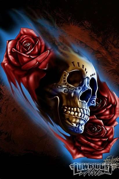 Lowrider Gabriel Frias Artwork Skull Artist Arte