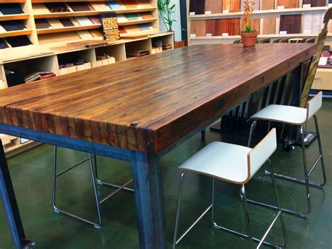 build  butcher block table tops loccie  homes