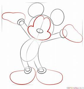 How to draw Mickey Mouse step by step. Drawing tutorials ...
