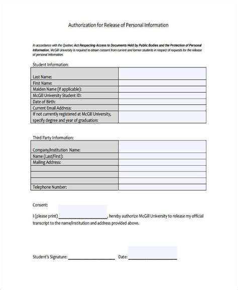FREE 24+ General Release of Information Forms in PDF   Ms Word