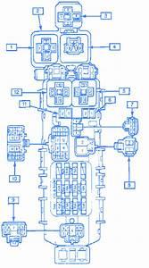 Gm Geo Prism 1991 Junction Fuse Box  Block Circuit Breaker