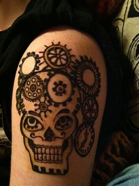 steampunk skull tattoos pinterest