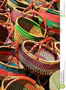 Colorful, Baskets, Stock, Photo, Image, Of, Handcraft, Handicraft