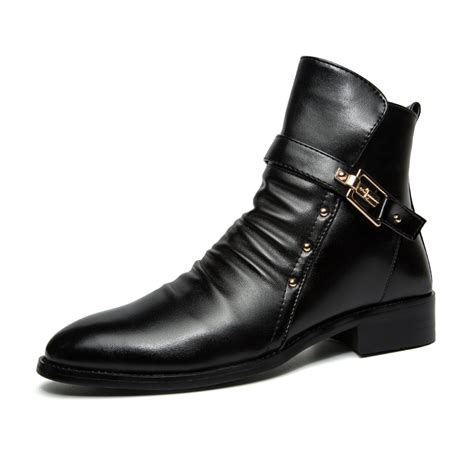 Popular Mens Leather Tall Boots Buy Cheap