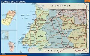 Mapa Mural Guinea Ecuatorial