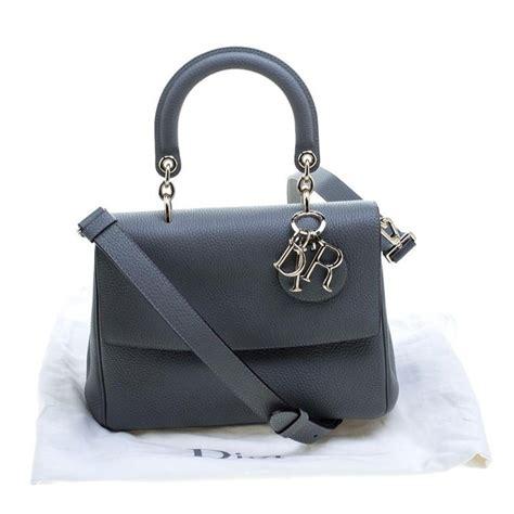 dior grey leather small  dior shoulder bag  sale  stdibs