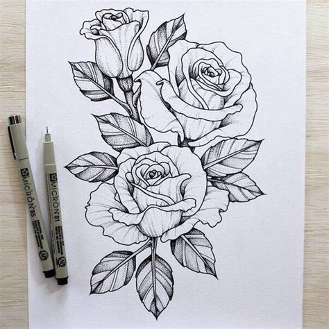 rose outline ideas  pinterest simple rose