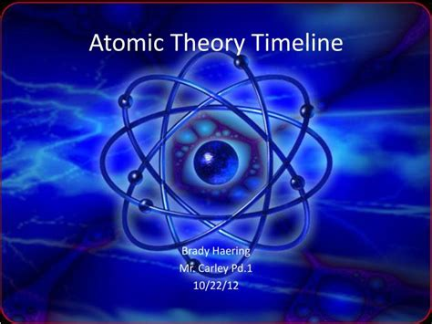 Ppt Atomic Theory Timeline Powerpoint Presentation Free