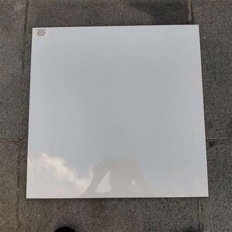 glazed porcelain wall floor tiles plain white mono
