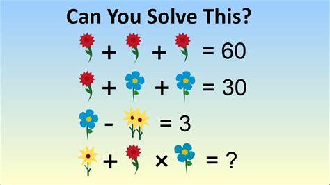 homework in china stumps adults the flower algebra problem youtube