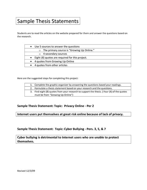 Thesis Template Thesis Planner Template