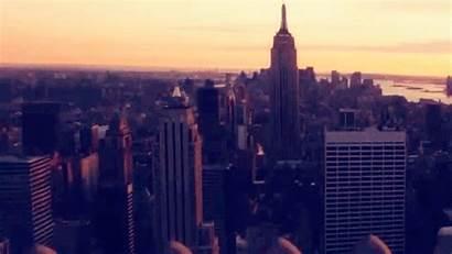 York Animation Usa Sunset Cities Gifs Lights