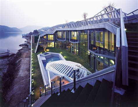 architectural island house  south korea idesignarch
