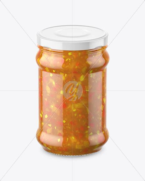 We have simplified your work by. Clear Glass Sweet & Sour Sauce Jar Mockup in Jar Mockups ...