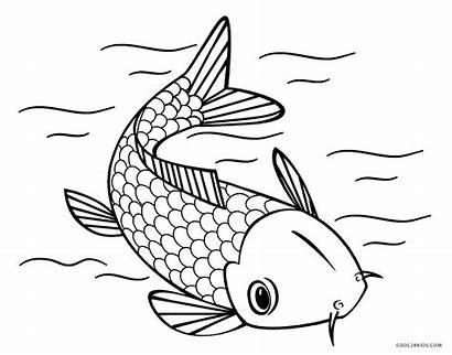 Fish Coloring Printable Koi Japanese Mare Pesci