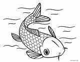 Fish Coloring Printable Koi Japanese Mare Pesci Cool2bkids Colorin Colorare Gatto Adult Stampare Bambini Pesce Immagini Getcolorings Davemelillo Template Divyajanani sketch template
