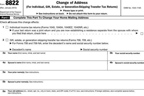 3 change of address form free