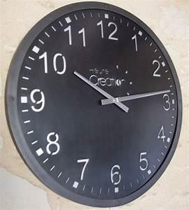 Mecanisme Horloge Geante : horloge murale g ante indus style industriel en acier ~ Teatrodelosmanantiales.com Idées de Décoration
