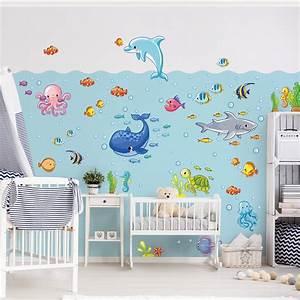 Wandtattoo Für Kinderzimmer : wandtattoo kinderzimmer unterwasserwelt fisch set ~ A.2002-acura-tl-radio.info Haus und Dekorationen