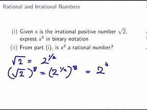 Rational and Irrational Numbers (Discrete Maths) - YouTube