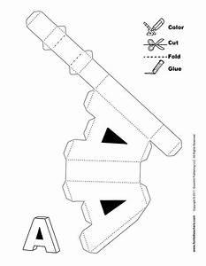 Buchstaben Basteln Vorlagen : 3d alphabet buchstaben basteln ausschneiden schneiden ~ Lizthompson.info Haus und Dekorationen