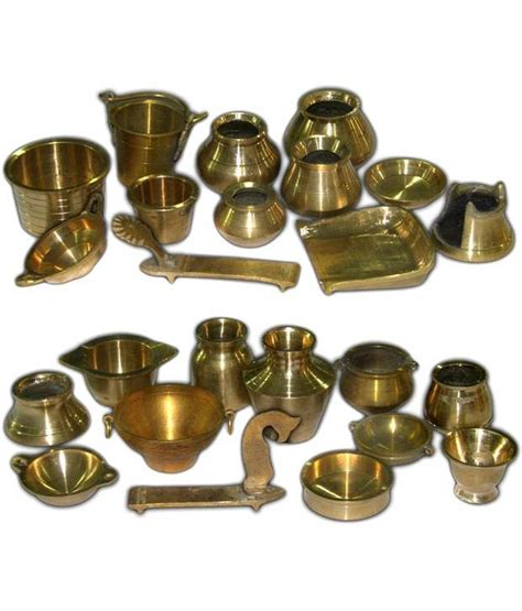 Ramsons Solid Brass Miniature Kitchen Utensils Set  1 & 2