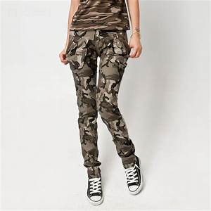 New Womens Camouflage Cargo Jeans Army Combat Trousers Cargo Pants   eBay