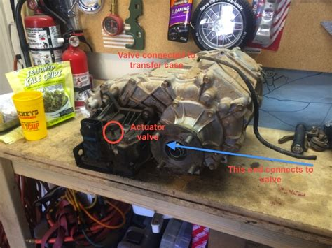 transfer case question    tube  toyota