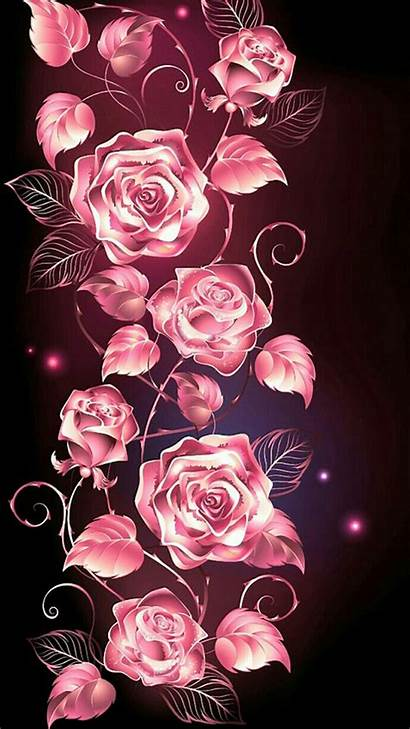 Pink Roses Background Rose Skull Iphone Wallpapers