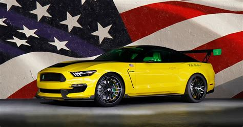 ole yeller mustang    murican shelby