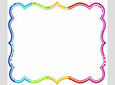 Rainbow Borders Clip Art Clipartsco