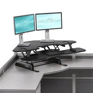 varidesk cube corner 48 review exercise at the desk