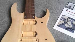 Diy 7 String Guitar Kit Unboxing  Review  Ibanez Style From