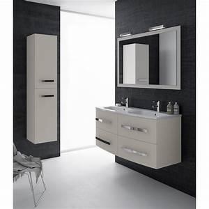 Meuble Laqué Beige : meuble de salle de bains plus de 120 beige perla leroy ~ Premium-room.com Idées de Décoration