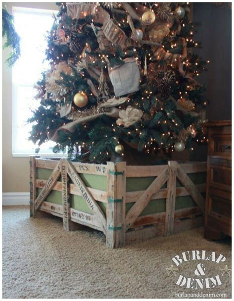 christmas tree fence for dogs make this rustic crate barrier to keep pets and away from your tree winter