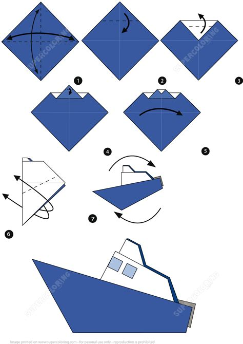 Origami Boat Steps by How To Make An Origami Boat Step By Step