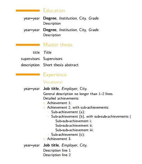 modern cv template free pdf free sles exles