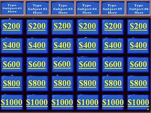jeopardy template 36 free word excel ppt pdf format With jeopardy template with sound effects