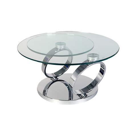 100 table ronde verre fly table basse relevable fly