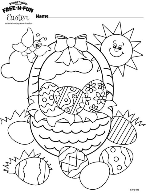 Coloring Easter Pages by Free Easter Coloring Pages Happiness Is