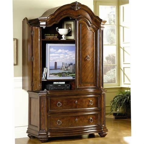 Brown Armoire by Trent Home Prenzo Tv Armoire In Warm Brown Finish 1390 7